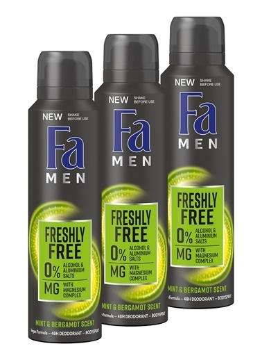 Fa Fa Freshly Free Nane & Bergamot Deosprey X 3 Adet Renksiz
